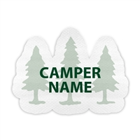 <!008>FRIENDLY PINES CAMP - TREE PRESS-ON LABELS