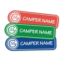 <!006>CAMP MYSTIC - LOGO RECTANGLE PRESS-ON LABELS