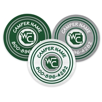 <!007>CAMP WAVUS - LOGO CIRCLE PRESS-ON LABELS