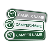 <!006>CAMP WAVUS - LOGO RECTANGLE PRESS-ON LABELS