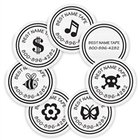 WHITE LOGOS - CIRCLE PERFORMANCE LABELS