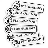 WHITE LOGOS - RECTANGLE PERFORMANCE LABELS