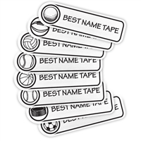 <!002>WHITE SPORTS - RECTANGLE PRESS-ON LABELS
