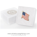 America Flag Pin with Banner Wave