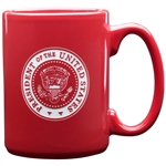 Seal of the President of the United States coffee, tea, or beverage mug, etched in USA,  from the official White House Gift Shop glassware collection