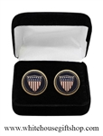 United States Flag Cufflinks Set from the Official White House Gift Shop established by Presidential Order and Members of U.S. Secret Service