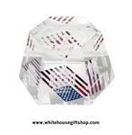 American Flag Laser Cube