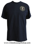 The White House T-Shirt, 100% made in USA, American high quality cotton, embroidered, Presidential Seal