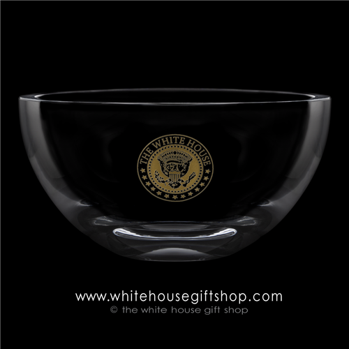 Gold Seal of the President Crystal Glass White House Dining Room Bowl from the Official White House and Historical Gift Shop