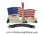 American Flag Ornament from the White House Gift Shop Historical and Americana White House Christmas and Holidays Collection