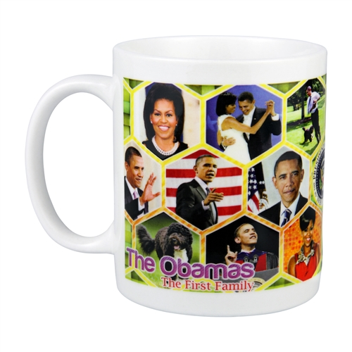 Obama First Family History and Collage Photo Mug from the White House Gift Shop