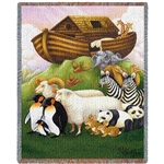 Noah's Ark Themed Throw from the White House Gift Shop