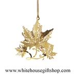 Maple Leaf White House Ornament