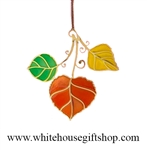 Aspen Leaves White House Ornament