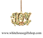 Joy White House Ornament