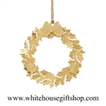 Classic Wreath White House Ornament