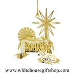 Traditional Manger White House Gift Shop Ornament