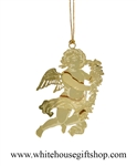 Classic Cherub White House Ornament