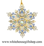 Shimmering Snowflake White House Gift Shop Ornament
