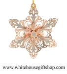 Glimmering Snowflake White House Gift Shop Christmas Ornament