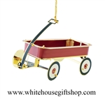 Red Wagon White House Giift Shop Ornament
