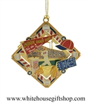 Baseball Collage White House Gift Shop Americana Christmas Ornament