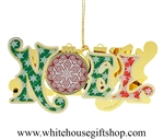 NOEL White House Ornament