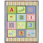 Favorite kids colors, Baby blanket throw from White House Gift Shop