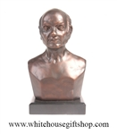 John Quincy Adams Bronze Patina Bust