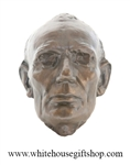 Bronze Patins Lincoln Life Mask