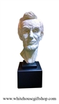"Lincoln Finale White Stone 15.5"" Bust"