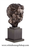 "Bust, Eleanor Roosevelt, 13"", Alabaster and Brozne"