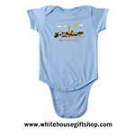 Baby Onesie Bodysuit, blue, 100% cotton