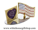 Crystal American Flag Photo Frame