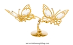 Gold Butterfly Duo Table Top Display with Swarovski Crystals