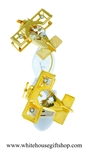 Gold Mini Aeroplane Duo with Swarovski® Crystals