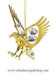 Gold American Eagle Ornament with Swarovski® Crystals.