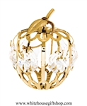 Gold Mini Apple Ornament with Swarovski® Crystals