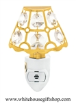 Gold New England Bay Window Nightlight with Swarovski® Crystals
