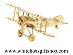 Gold Biplane Ornament
