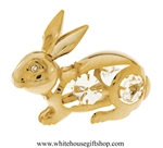 Gold Bunny Rabbit Ornament with Swarovski® Crystals