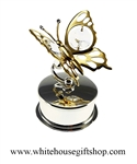 Gold Mini Butterfly Jewelry Box with Swarovski® Crystals