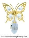 Gold Butterfly Nightlight with Swarovski® Crystals