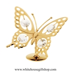 Gold Butterfly Table Top Display with Swarovski Crystals