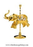 Gold Carousel Elephant Table Top Display with Swarovski® Crystals