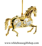 Gold Carousel Horse Ornament