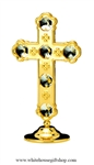 Gold Cross Table Top Display with Swarovski Crystals