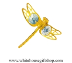 Gold Mini Dragonfly Magnet/ Sun Catcher Window Cling with Swarovski® Crystals