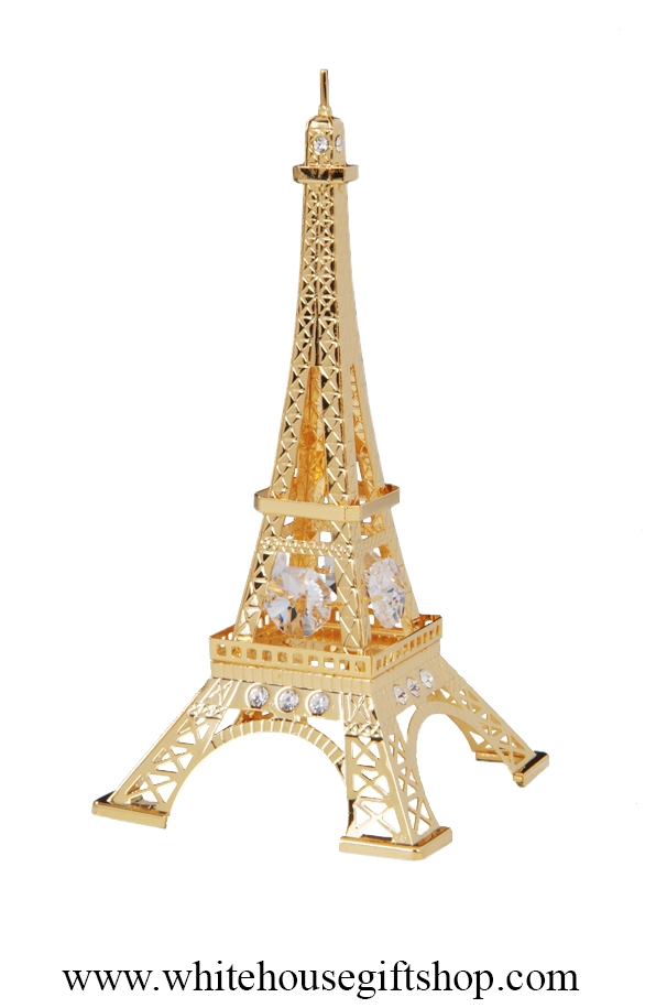 Eiffel Tower Gold Plated Desk Model Or Ornament From The