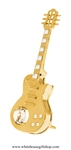 Gold Electric Guitar Ornament with Swarovski® Crystals
